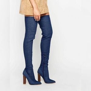 NWOT Truffle collection Jeans Thigh-High Boots